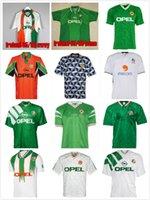 1990 1992 Tayland İrlanda Retro Futbol Jersey Vintage Futbol Gömlek İrlanda Cumhuriyeti Ulusal Takım Formaları 90 Dünya Kupası Kiti Yeşil Beyaz