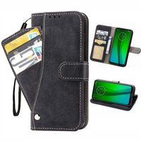 Magnetische Brieftasche Lederkoffer mit revolvierenden Kartenhalter Cash Slot Design für Motorola G5 G6 G7 G8 G9 Plus Power Play 3 in 1 Telefon Fall