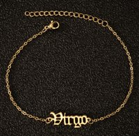 Link, Chain Jewelry12 Zodiac Ankle For Hip Hop Jewelry Women Constellation Gold Adjustable Anklet Stainless Steel Bracelets Drop Delivery 20