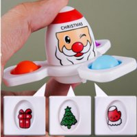 Christmas Fidget Toys Flip Face Changing Push Toy Bubble Silicone Fingertip Gyro Decompression Creative Game Sensory Anxiety Stress Reliever