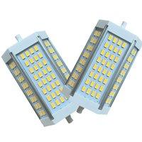 Dubbeländad R7S LED-glödlampa 30W DayLGIht 3000K 6000K J Typ 118mm Floodlight AC85-265V CRESTECH168