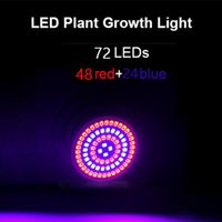 Party Decoration 72LED Grow Light E27 Lamp Bulb For Plant Flowers Hydroponic Full Spectrum