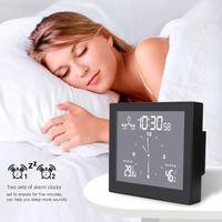 Desk & Table Clocks LCD Display Digital Bathroom Wall Clock Waterproof Alarm Countdown Timer, Suction Cup Indoor Temperature Humidity