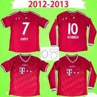 2013 2013 Bayern Retro Futebol Jerseys Finais Robben Mandzukic Futebol Camisas Clássicas Vintage 12 13 Ribéry Gómez Schweinsteiger Müller Martínez Munique Home Manga Longa