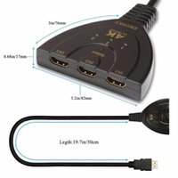 Adapter 3x1 -compatible Switcher 1080P 3 In 1 Out Splitter For DVD HDTV Computer Components Tv Box Aux Cable Audio Cables & Connect Connecto