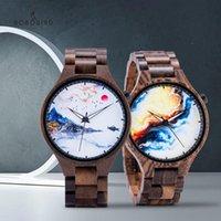 Armbanduhren bobobird marke uhren für männer holzquarz arms uhr hochwertig holz Ebenholz handgefertigte reloj hombre 6 modelle in geschenk