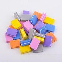 5pcs / lot 양면 미니 네일 파일 블록 다채로운 스폰지 매니큐어 샌딩 버퍼 스트립 네일 폴리싱 매니큐 jllibx