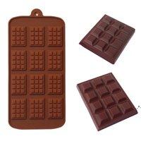 Molde de silicona 12 Incluso molde de chocolate Moldes de fondant DIY Candy Bar Molde Molde Decoración Herramientas Cocina Accesorios para hornear EWE5901