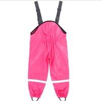 Детские брюки дождя, грязь и копание брюки, ветер и водонепроницаемые швы сварные