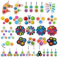 Dekompression Spielzeug Push Einfache Grübchen Keychain Schlüsselanhänger Kinder Finger Sensorische Squeeze Spielzeug Squeezy Vent Bälle Antiangst