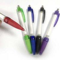 أقلام حبر جاف سحب قابل للسحب راية ballpen مخصص طباعة رسالة إعلان القلم 10pcs / lot F0YQ