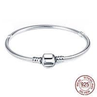 Silver 925 Chain Charm Armband med Ale S925 Logo Fit DIY Pärlor Charms Kvinnor Handgjorda Julklapp Original Smycken PS003