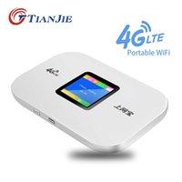 Tianjie 4G carte SIM Carte SIM WIFI ROUTER CAT4 150Mbps Modem sans fil LTE FDD / TDD mobile WiFi Déverrouillé Pockock Pockock Portable 210607