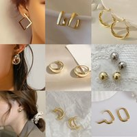 Vintage Gold Small Circle Hoop Earrings for Women Geometric Handmade Huggie Style Earring Bride Girl Party Wedding Jewelry Bulk