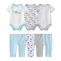 Summer Toddler Born Unisex Baby Boy Girl Clothing Set 0-12M Cotton Soft Bodysuit+Pants Infant Ropa Sets