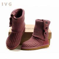 2021 женские зимние ботинки Австралия Классический высокий шерстяной снежный ботинок теплый толстый поворот, чтобы помочь шерсти IVG Размер 36-41 туфли для пешеходных ботинок для женщин от W0VY #