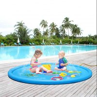 Pool & Accessories 100cm Kid Inflatable Water Spray Pad Round Splash Play Playing Sprinkler Mat PVC Swimming Pools Yard Outdoor Fun Toy
