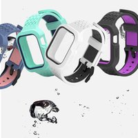 Replacement Strap Watches Bands Cases For Apple Watch iWatch Series 6 SE 1 2 3 4 5 38mm 42mm 40mm 44mm Integrated Full Protection Case