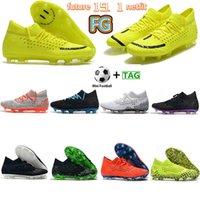 فوز مع ابتسامة مستقبل الرجال 19.1 Netfit FG أحذية كرة القدم الأسود برتقالي أخضر أحمر أبيض أزرق مشرق قرمزي فضي فولت رجل مصمم رياضي رياضي