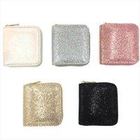 Kandra Femmes Portefeuille Petite Gold Glitter Femmes courtes Banque Saisinée Carte de crédit Bombe Womans Wholesale
