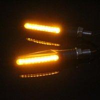Bulbos 1-10 pcs motocicleta gire sinais luz 12 LED Universal cauda flasher fluindo água blinker ip68 luzes curtas