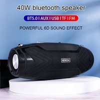 Mini Speakers 40W High Power Wireless Bluetooth Portable Outdoor Column Stereo Subwoofer For PC Speaker Computer USB Tweeter