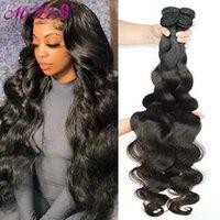 """Human Hair Bulks Mi Lisa Body Wave Bundles Brazilian Weave 1 3 4PCS Natural  Jet Black 10-30""""Remy Extensions"""