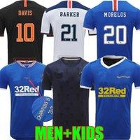 2021 2022 글래스고 레인저 150 주년 기념 축구 유니폼 홈 세 번째 멀리 챔피언 55 Defoe Hagi Barker Morelos Tavernier 20 22 22 축구 셔츠 남성 + 키트 키트
