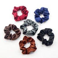 Kadınlar Saç Aksesuarları Katı Renk Elastik Özel Kumaş Polyester İpek Saten Scrunchies