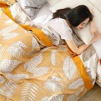 Decken Qi Jie Life 100% Baumwolle Muslin Sommer Decke Gaze Bett Sofa Cover Chic Multifunktions Mandala Wirbliche Reisen
