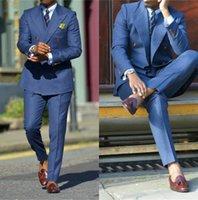 Темно-синие мужские костюмы для свадебных жених носить смокинги пожелание Groomsman костюм ужин выпускные платья Precy Binders 2 штурма (куртка + брюки) мужские пиджаки