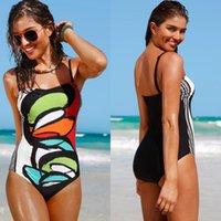 Monokini Biquini Women's Sexy Women One Piece Swimsuit Swimwear Female Brazilian Bathing Suits Bodysuit Beach Wear Halter Print 2021
