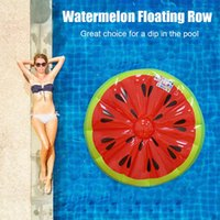 Inflatable Floats & Tubes Watermelon Floating Raft Row Water Float Bed Air Mattress Pool Party Adult Kids Game Toys