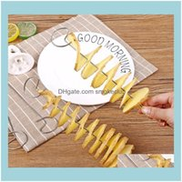 Other Tools Kitchen, Dining Bar Home & Gardennovelly Tornado Manual Slicer Spiral French Fry Cutter Potato Tower Making Twist Shredder Kitch