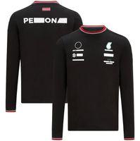 2021 New Racing Team F1 Racing Tuta a maniche lunghe T-shirt T-shirt in poliestere Asciugatura in poliestere Personalizzabile Personalizzabile Uomini e donna