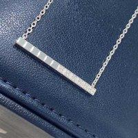 Marca Pura 925 Joyería de plata esterlina para mujeres Collar de playa Cubo Diamond Drop Pendants Diseño de moda Neckalce