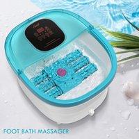 Masażer do kąpieli stóp 6 Rolki ze zmotoryzowanymi rolkami, wielofunkcyjne z ciepłem, automatycznym masażem, bańki i wibracje, wanna pedicure, 30-60mins timer