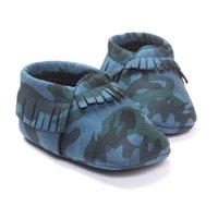 카모 아기 소년 신발 신생아 첫 번째 워커 블루 아기 모카신 어린이 스포츠 신발 유아 부츠 아이 양말 프린지 0 1 2 년 210413