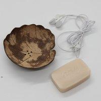 Yaratıcı Sabun Yemekleri Retro Ahşap Banyo Sabun Hindistan Cevizi Şekli Dizsiz Tutucu DIY El Sanatları HHE5879