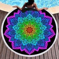 منشفة ماندالا الزهور جولة شاطئ بوهيميا حساسة ستوكات المناشف لغرفة المعيشة بطانية في الهواء الطلق السباحة المنزل الصيف