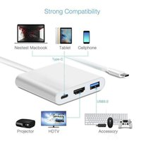 "USB-C 3.1 Type-C إلى 4K HD-OUT 1080P الموصلات الرقمية AV متعددة الوسائط محول OTG USB 3.0 HUB شاحن MacBook 12 """