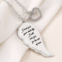 Lettera Angel Wings Heart Diamond Collana Angel Wings Collana a sospensione