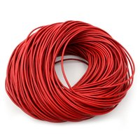 1.0 / 1.5 / 2 / 2.5 / 3/4 / 5mm 4 couleur véritable cuir de vachette ronde cordon bricolage bracelet raccordements corde corde corde