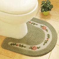 Bath Mats Microfiber Toilet Rug U-Shaped Non Slip Absorbent Thick Soft Washable Bathroom Rugs Floor Carpet Mat For Bat