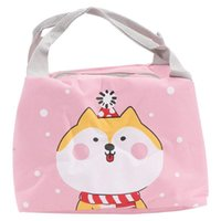 Storage Bags Portable Cartoon Lunch Bag Oxford Cloth Bento Handbag Thermal Insulated Tote Dinner Container School Food Organizer