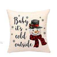 Weihnachtskissenbezüge Weihnachtsdekorationen Rot Schwarz Plaids Wurf Kissen Kissenbezug Für Weihnachtsbaum Truck Santa Claus Schneemann NHD9204