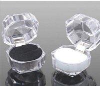2021 Klare Kunststoff Ring Ohrringe Display Boxen Anhänger Perlen Lagerung Organizer Boxen Paket Fall Geschenk Schmuckkiste