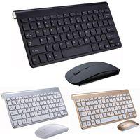 Keyboards Portable Mini Wireless Keyboard 2.4GHz Computer Mouse Combo Set For Laptop Desktop Windows Mac PC Notebook Smart TV
