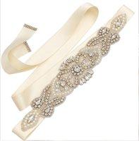 Other Wedding Favors Luxury Rhinestones Belt Big Size Crystal Bridal Sash Silver Diamond For Long Dress