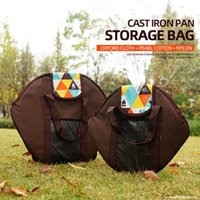 Storage Bags Outdoor BBQ Picnic Frying Pan Bag Cast Iron Skillet Carrier Tote Cookware Organizer Pouch Handbag
